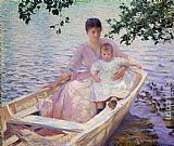Edmund Charles Tarbell - Mother and Child in a boat
