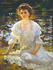 Edmund Charles Tarbell - Portrait of Elanor Hyde Phillips