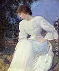 Edmund Charles Tarbell - Portrait of a Woman in white