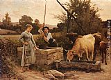 Edouard Bernard Debat-Ponsan - At the Well