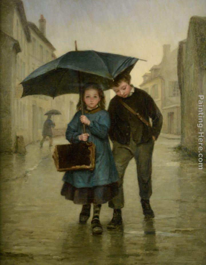 Edouard Frere Going to School