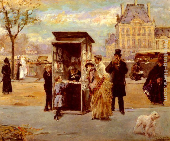 Eduardo Leon Garrido The Kiosk by the Seine