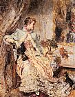 Eduardo Leon Garrido An Elegant Lady with her Dog painting