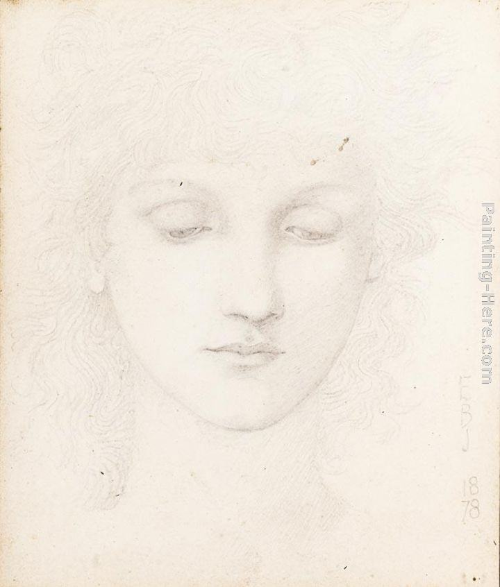 Edward Burne-Jones Head of a Girl