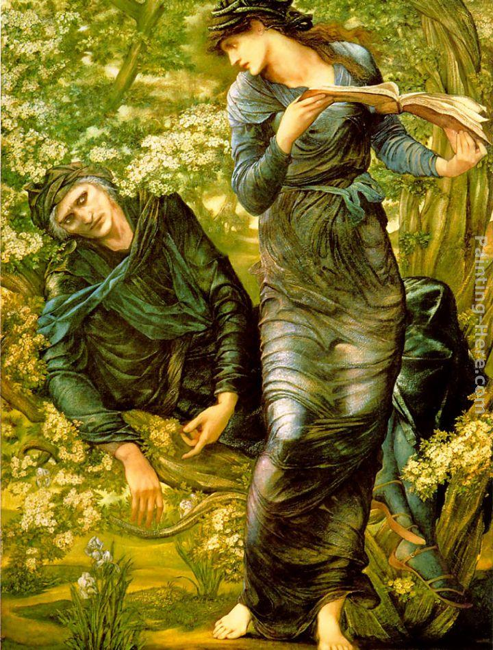 Edward Burne-Jones The Beguiling of Merlin