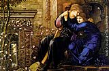 Edward Burne-Jones Love Among the Ruins painting