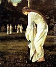 Edward Burne-Jones Saint George and The Dragon - The Princess Tied to the Tree painting