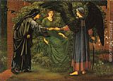 Edward Burne-Jones The Heart of the Rose painting