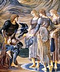 Edward Burne-Jones The Perseus Series Perseus and the Sea Nymphs painting