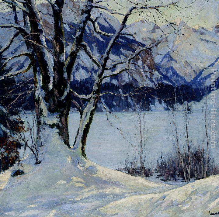 Leonid afremov winter stream