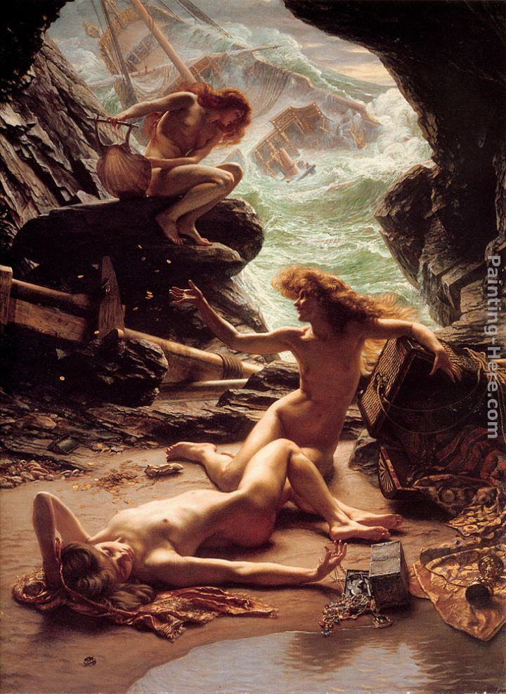 Edward John Poynter The Cave of the Storm Nymphs