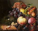 Edward Ladell - Still Life with Birds Nest and Fruit