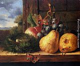 Fruit Wall Art - Still life with a birds nest and fruit