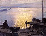 Edward Potthast - Along the Mystic River