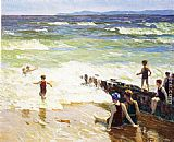 Edward Potthast - Bathers by the Shore