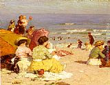 Edward Potthast - Beach Scene