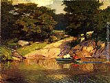 Edward Potthast - Boating in Central Park