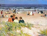 Edward Potthast - By the Shore