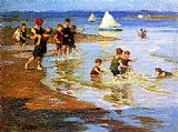 Edward Potthast - Children at Play on the Beach
