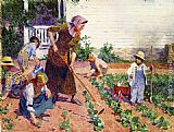 Edward Potthast In the Garden painting