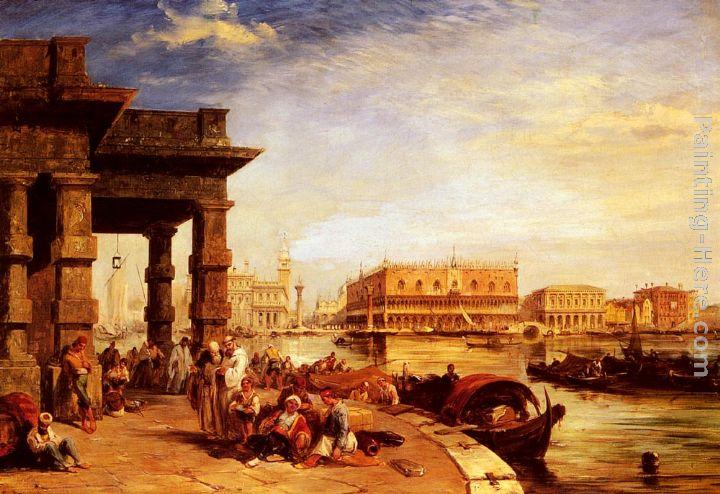 Edward Pritchett Looking To St Mark's Square From The Dogana
