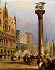 Edward Pritchett A View Of St Mark's Column, And The Doge's Palace, Venice painting