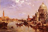 Edward Pritchett A View of the San Giorgio Church and the Grand Canal painting