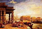 Edward Pritchett Looking To St Mark's Square From The Dogana painting