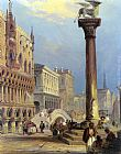 Edward Pritchett St. Marks and the Doges Palace, Venice painting