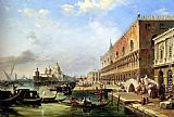 Edward Pritchett - The Bacino, Venice, Looking Towards The Grand Canal, With The Dogana, The Salute, The Piazetta And The Doges Palace
