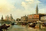 Edward Pritchett The Bacino, Venice, With The Dogana, The Salute And The Doge's Palace painting