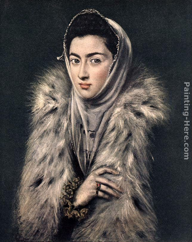 El Greco Lady with a Fur