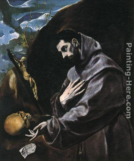 El Greco St Francis Praying