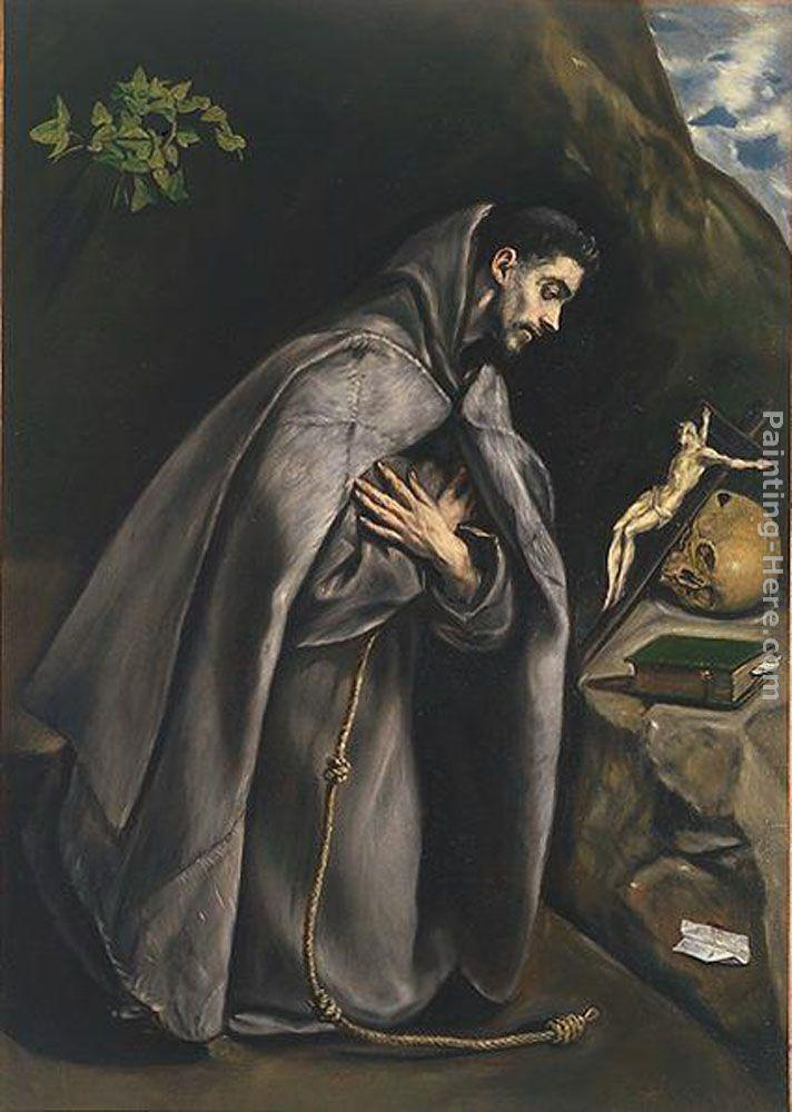 El Greco St. Francis Venerating the Crucifix
