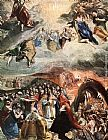 El Greco Famous Paintings - Adoration of the Name of Jesus (Dream of Philip II)