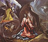 El Greco Canvas Paintings - Agony in the Garden