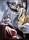 El Greco Famous Paintings - Annunciation