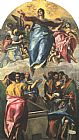 El Greco Canvas Paintings - Assumption of the Virgin