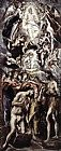 El Greco Baptism of Christ painting