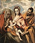 El Greco Famous Paintings - Holy Family
