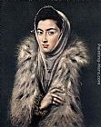 El Greco Lady with a Fur painting