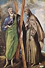 El Greco Famous Paintings - St Andrew and St Francis