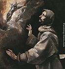 El Greco St. Francis Receiving the Stigmata painting