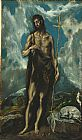 El Greco Famous Paintings - St. John the Baptist
