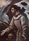 El Greco Famous Paintings - The Ecstasy of St Francis