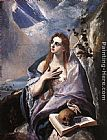 El Greco The Magdalene painting