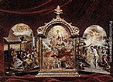 El Greco The Modena Triptych (front panels) painting