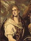 El Greco The Penitent Magdalene painting