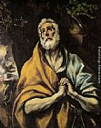 El Greco Wall Art - The Repentant Peter