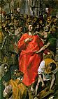 El Greco Canvas Paintings - The Spoliation